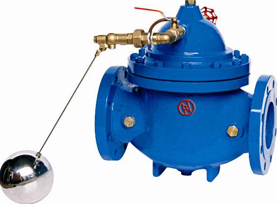 控制水塔或水池液面,保养简单,灵活耐用,液位控制准确度高,水位不受水压干扰且关闭不漏水。 控制浮球阀可与主阀体分离安装 压力等级:PN10、PN16、PN25 隔膜式: DN50~DN350 活塞式: DN400~DN800 结构特点 水力控制阀一般分为隔膜式和活塞式,它们的工作原理相同;水力控制阀是由一个主阀及其外装之针型阀(调节阀)、先导阀、导管和压力表等组合而成并配合使用场所、目的及功能的不同而演变为各种阀门。 动作原理 水力控制阀隔膜式和活塞式两大类,本厂所提供的口径DN350以下的采